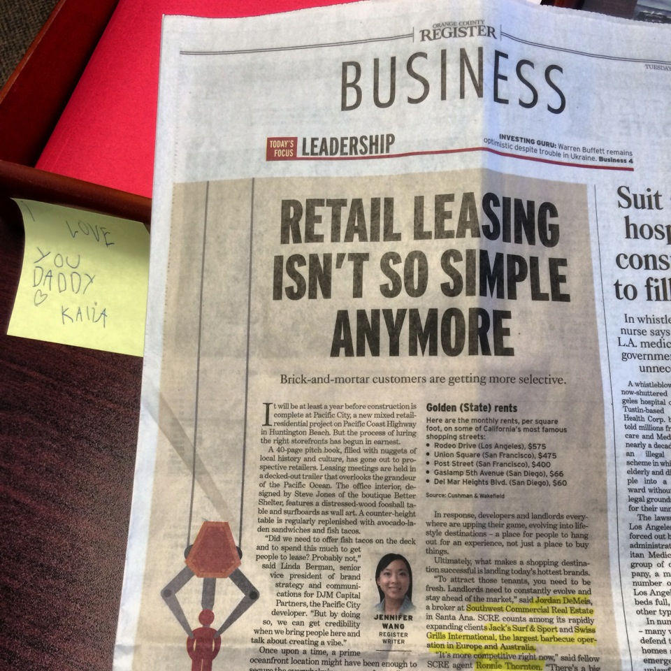 OC REGISTER Business Section with Southwest Commercial